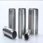 Titanium threaded pipe